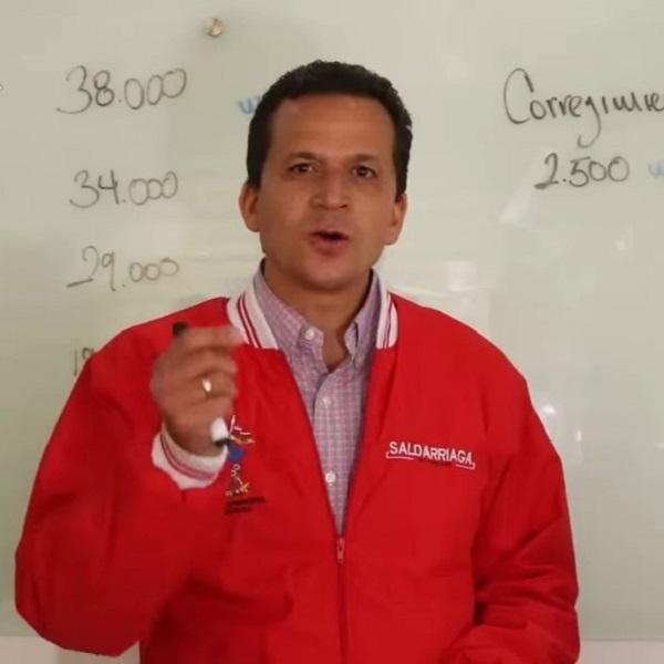Juan Carlos Saldarriaga, alcalde de Soacha.
