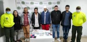 Los capturados en Madrid, Cundinamarca, de la banda Los del Rincón.